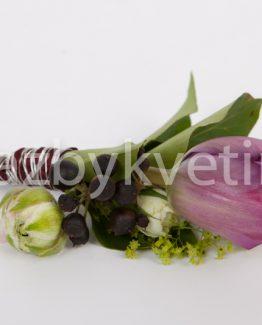 Klopa pro ženicha tmavý tulipán