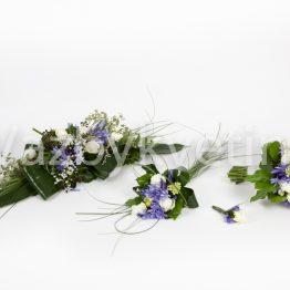 Svatební komplet v tónech bílé a fialové