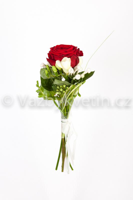 Kytice družičky rudé růže