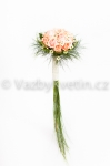 Svatební kytice růžové růže