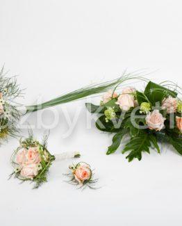 Svatební růžový komplet