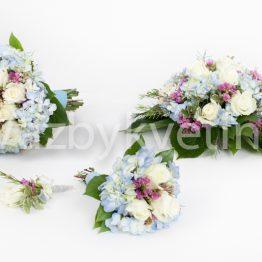Světle modrý svatební komplet