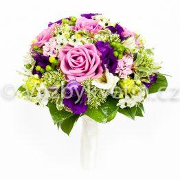 Svatební kytice z pestrých květin