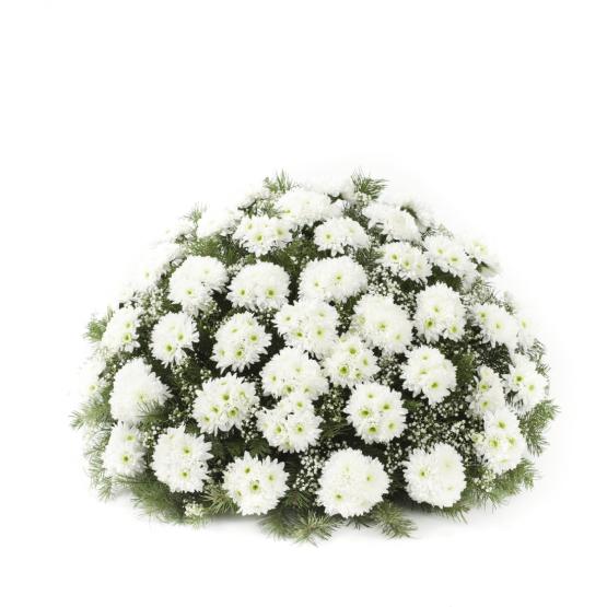 Kytice na rakev kopretinové chryzantémy bílé