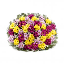 Kytice na rakev barevné kopretinové chryzantémy růžové