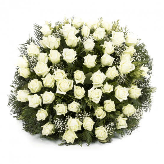 Kytice na rakev bílé růže