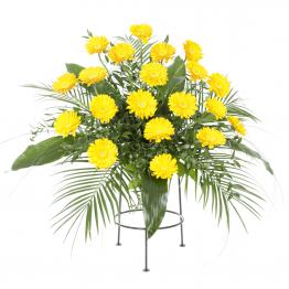 Aranžmá žluté gerbery