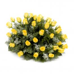 Kytice na položení žluté růže