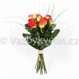 Oranžovo-žluté růže