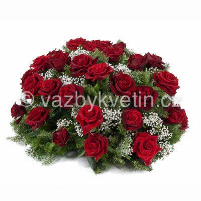 Kytice na položení rudé růže