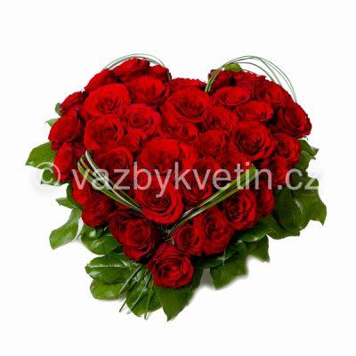 Aranžmá srdíčko růže